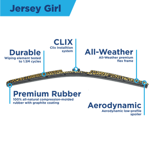 "CLIX Jersey Girl Precison Fit Click-on Wiper Blades - 22"" 16 - AutoTex"