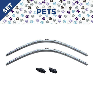 "CLIX Pets Precison-Fit Two Pack Click-on Wiper Blades - 16"" 14"" - AutoTex"