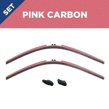 "Load image into Gallery viewer, CLIX PINK Precison-Fit Two Pack Click-on Wiper Blades - 26"" 18"" - Fit Small Top Button Wiper Arms - AutoTex"