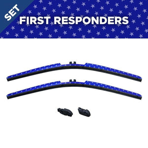 "CLIX Stars Precison-Fit Two Pack Click-on Wiper Blades - 22"" 18"" - Fit Small Top Button Wiper Arms - AutoTex"