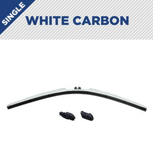 "CLIX White Carbon Precison-Fit Two Pack Click-on Wiper Blades - 14"" 14"" - AutoTex"