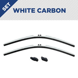 "CLIX White Carbon Precison-Fit Two Pack Click-on Wiper Blades - 22"" 18"" - Fit Small Top Button Wiper Arms - AutoTex"