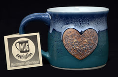 Green-blue love mug from Mug Revolution