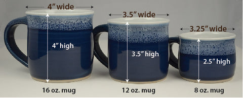 Mug Sizes And Colors Mug Revolution