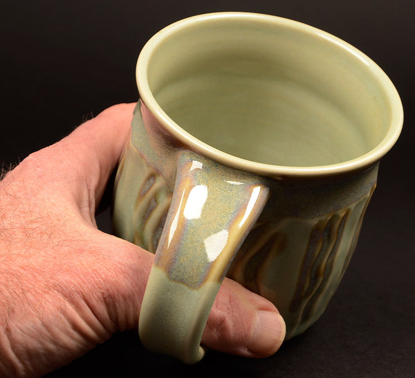Large Celadon Faceted Signature Mug