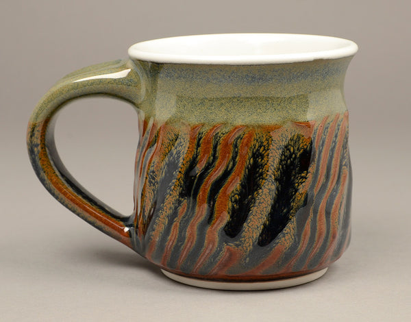 Small Pond Glazed Faceted Signature Mug