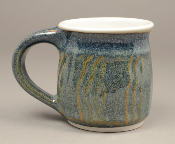 Small Denim Blue Faceted mug
