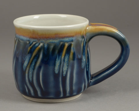 Small Blue Glazed Signature Mug