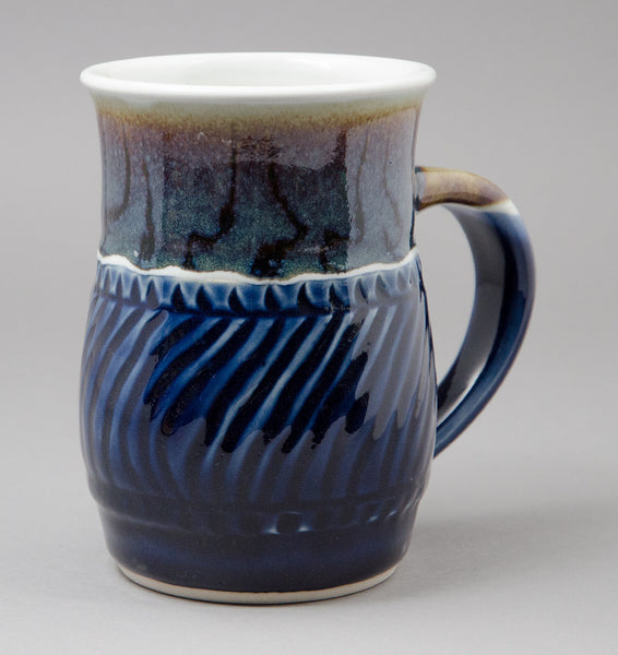 Very Large Rutile-Blue Signature Mug
