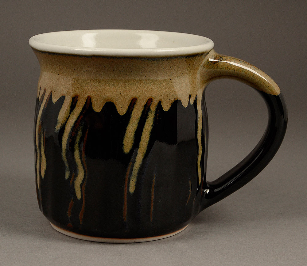 Medium Black (tenmoku glaze) Signature Mug