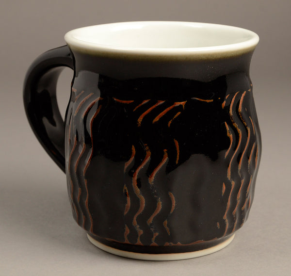 Large Black (tenmoku glaze) Signature Mug