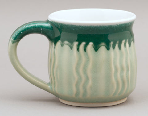11 oz. faceted celadon mug