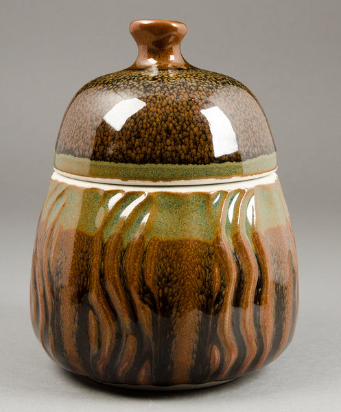 Faceted lidded jar