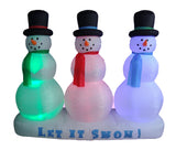 6 Foot Snowmen Lightshow
