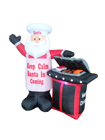 5.3 Foot Santa Claus with BBQ Grill