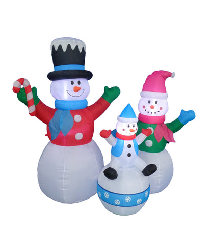 6 Foot Happy Snowmen Family