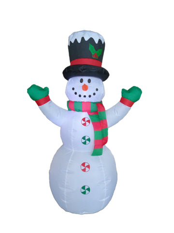 4 Foot Christmas Inflatable Snowman with Hat and Scarf