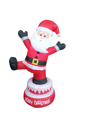 5 Foot Tall Animated Christmas Inflatable Santa Claus