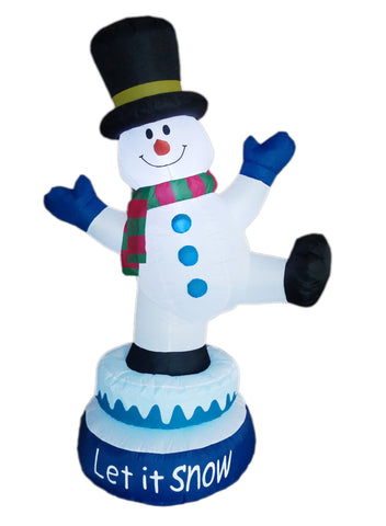 5 Foot Tall Animated Christmas Inflatable Snowman