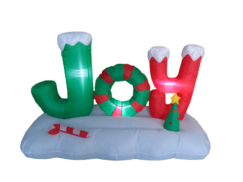 5 Foot Christmas Inflatable JOY to The World