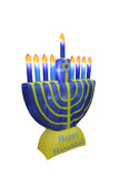6 Foot Tall Christmas LED Inflatable Hanukkah Menorah Candles Scene