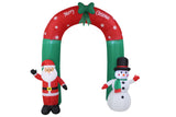 8 Foot Christmas Inflatable Santa Claus & Snowman Arch Yard Decoration