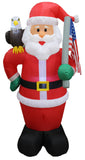 6 Foot Tall Christmas Inflatable Patriot Santa Claus with Eagle and American Flag