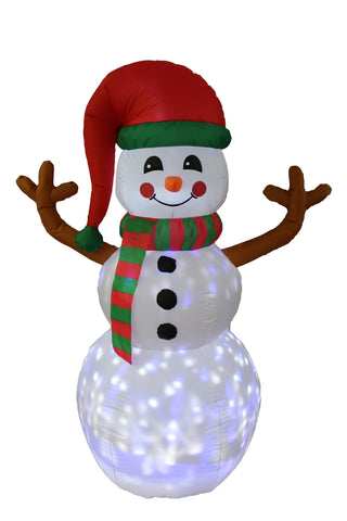 6 Foot Tall Christmas Inflatable Twinkle Snowman Yard Decoration