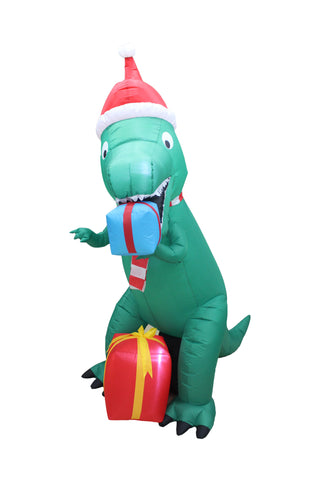 7 Foot Tall Dinosaur with Gift Boxes