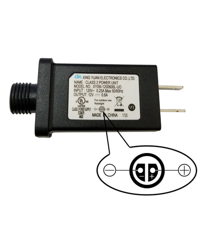 Replacement Power Supply Adapter 12Vdc 0.6Amp (600mA)