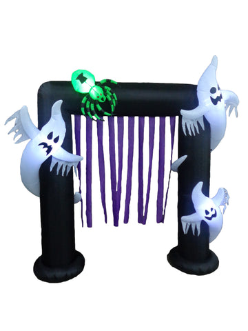 8 Foot Halloween Archway with Ghosts and Spider