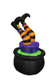 4 Foot Halloween Inflatable Witch in Pot