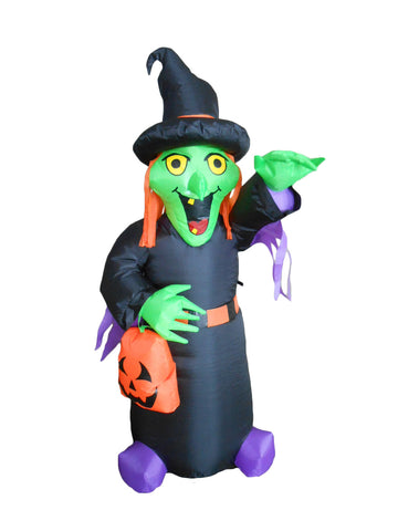 4 Foot Halloween Inflatable Witch