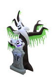 9 Foot Halloween Inflatable Grave Scene with Ghost and Tree