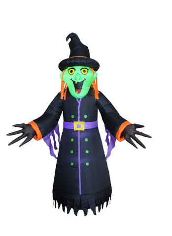 8 Foot Halloween Inflatable Witch