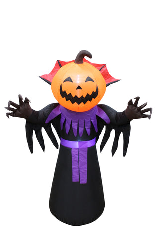 6 Foot Tall Inflatable Halloween Pumpkin Head Master