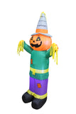 6 Foot Tall Happy Thanksgiving Hallween Inflatable Pumpkin Scarecrow Yard Art Indoor Outdoor Decoration