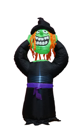 4 Foot Tall Halloween Inflatable Headless Witch Indoor Outdoor Lawn Yard Art Decoration