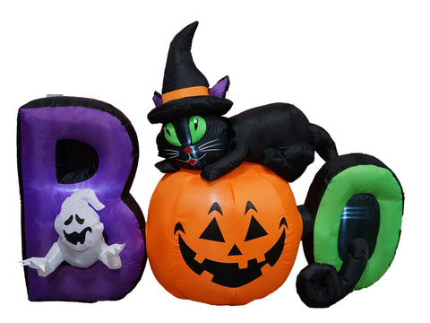 6 foot long lighted halloween inflatable black cat ghost pumpkin boo 6 foot long lighted halloween inflatable black cat ghost pumpkin boo cute indoor outdoor lawn yard workwithnaturefo