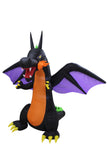 8 Foot Tall Lighted Halloween Inflatable Fire Dragon with Wings Indoor Outdoor Yard Lawn Prop Party Decoration