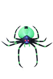 6 Foot Long Halloween Inflatable Black Green Spider Indoor Outdoor Yard Decoration