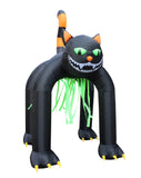 13 Foot Tall Halloween Inflatable Giant Black Cat Archway Yard Decoration