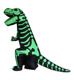 8 Foot Tall Halloween Inflatable Large Green Skeleton Dinosaur Yard Decoration