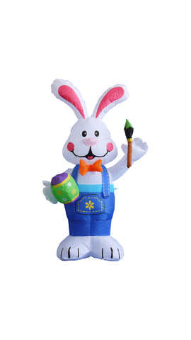 4 Foot Bunny with Paintbrush