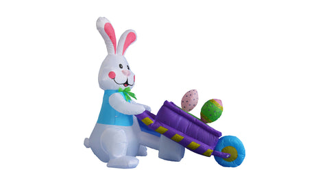 4 Foot Bunny with Wheelbarrow