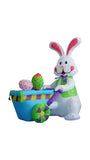 4 Foot Bunny with Cart