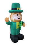 4 Foot Tall Lighted Inflatable St Patricks Day Leprechaun Holding Shamrock Cute Lucky Yard Art Decoration