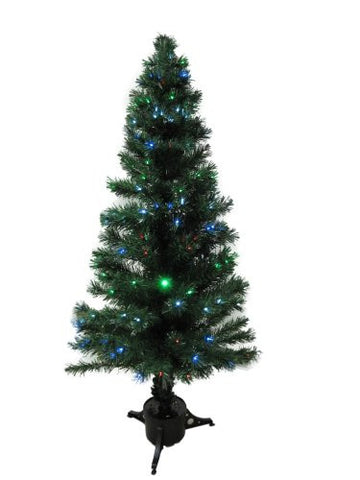 5.5 Foot Green Artificial Fiber Optic Christmas Tree w/ 220+ Multicolor LED Lights