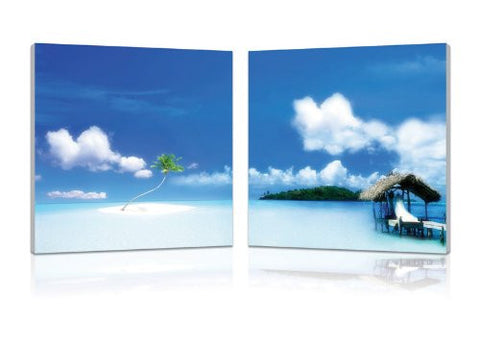 Oasis, Gallery Wrapped Diptychs 2 Panel Modern Wall Art Decoration