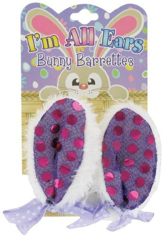 Bunny Ears Barrettes Hair Clips Pack of 2
